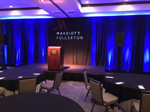 Fullerton Marriott Corporate Event Set Up