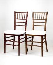 mahagony & fruitwood chiavari chairs